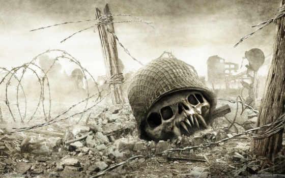 смерть, war, resistance, череп, забор,