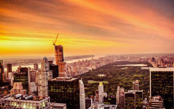 new, york, город Фон № 51156 разрешение 1920x1200