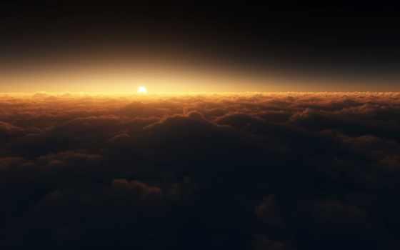 небо, космос, sun