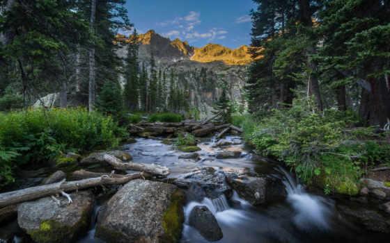 colorado, река, mountains, landscape, trees, озеро, crater,