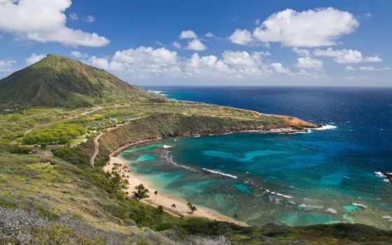 oahu, hawaii, остров, hawai, hanauma, bay, острова,