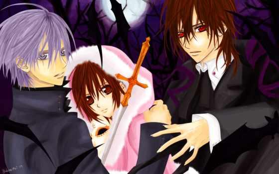 anime, vampire, рыцарь