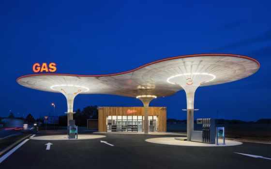 станция, газовый, foster, repsol, сервис, architecture, устройство
