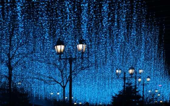 улица, свет, ночь, garland, лампа, lantern, random, popularity, color