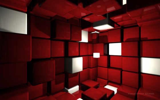кубики, красный