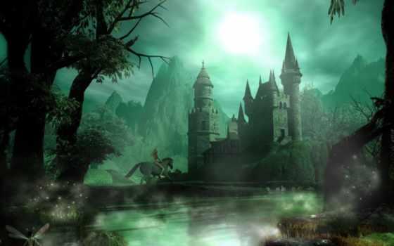 фентези, замок, замки