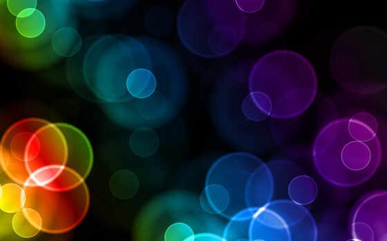 абстракция, цветная, круги