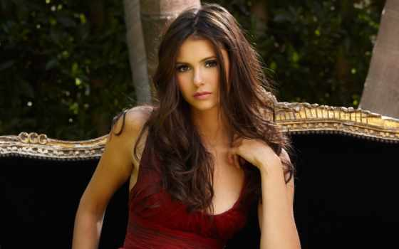 nina, добрев, актриса, brunette, девушка, макияж,