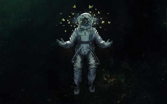астронавт, avatars, butterflies, ipad, sci, космос, аватар,