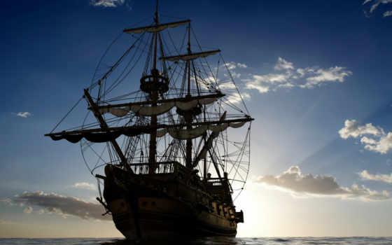 pearl, черная, карибского, пираты, моря, корабль, фотообои, встречу, солнцу, article,
