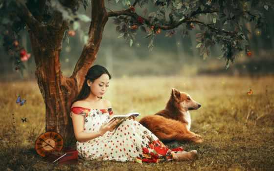 girls, девушка, страница, картинка, собаки, dogs, zhivotnye, knowledge, школьные,