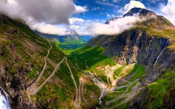 trollstigen, trolley, дорога, лестница, самых, одно, дороги, мира, норвегии,
