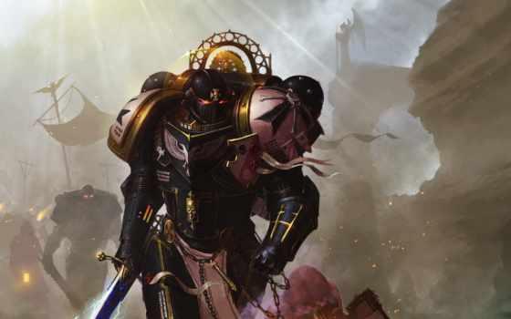 warhammer, храмовники, black, чемпион, храмовников, marines, космос, императора, черных, imperors,