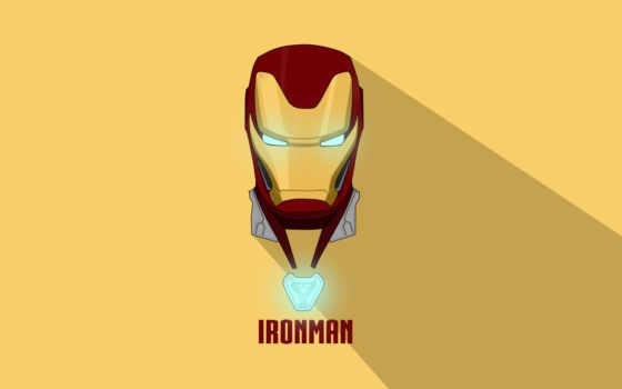 minimal, iron, мужчина, artwork, yellow, фон,