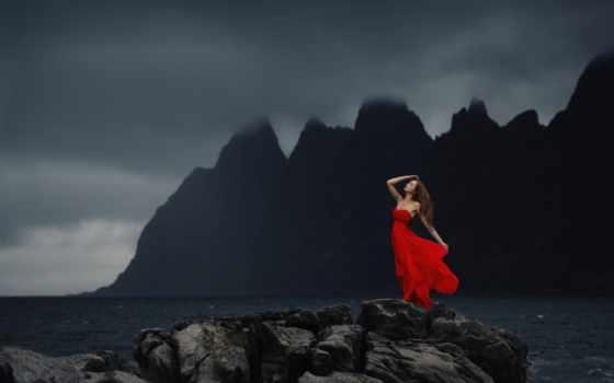 море, девушка, devushki, ночь, берег, волосы,