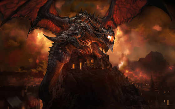 world, deathwing, warcraft, wow, игры, dragon, games, демон, dragones, баал,