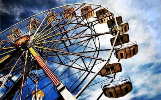 колесо, небо, popular, ferris, парк, top, чертово,