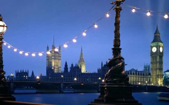 лондон, night, westminster