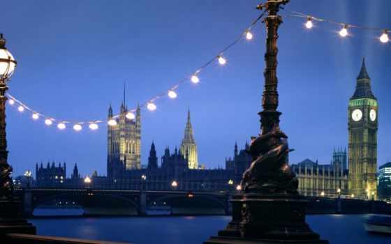лондон, night, westminster, england, мост, красивые, лондона, просмотреть,