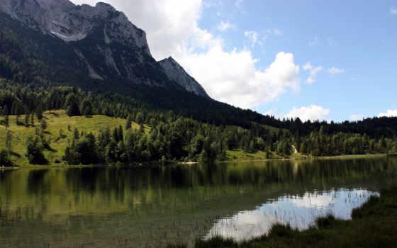 горы, water, природы, река, пейзажи -, февр, леса, природа,