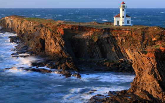 oregon, charleston, lighthouse, bay, coos, arago, point, грегори, cape,