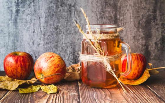 плод, apple, столик, лист, напиток, juice, банка, side, leaf
