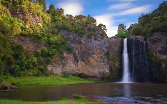 водопад, hunua