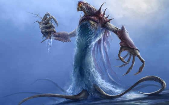monster, water, fantasy,