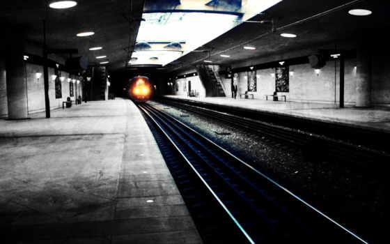 metro, поезд, город