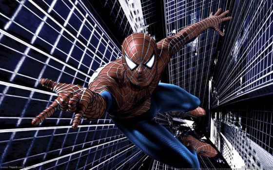 мужчина, паук, картинку