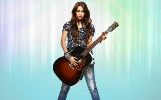 девушка, гитарой, psd