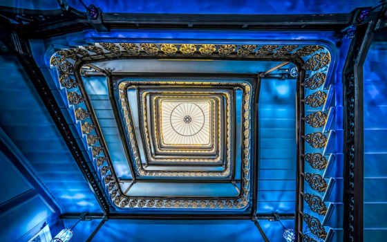 staircase, brighton, blue