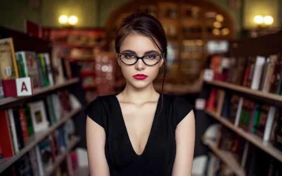 девушка, волосы, губы, взгляд, лицо, очки, devushki, очках, картинка,