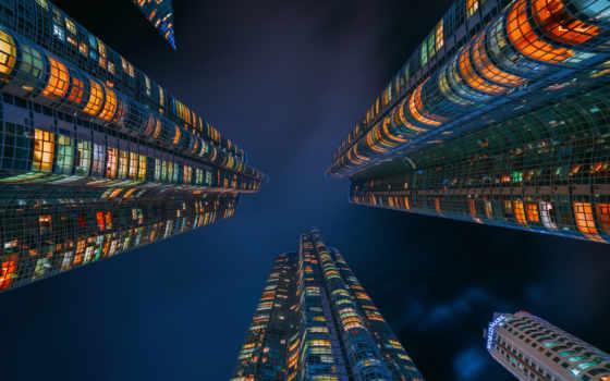 korean, skyscrapers, сеул, южная, взгляд, город, небоскребы, korea, south,
