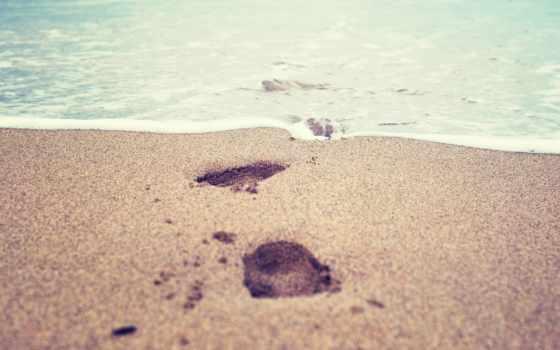 песок, макро, море