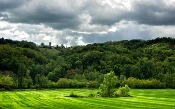 коллекция, природа, landscape, поле, italian, гора, качество, high, зелёный, mobile, ноутбук