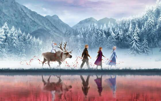 природа, fantasy, anime, red, freeze, blizzard