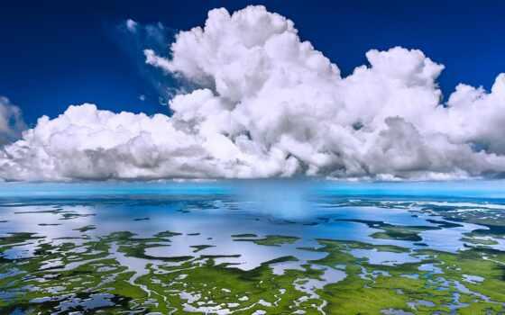everglade, park, national, florida, взгляд, aerial, дерево, облако, getty, трава, лес