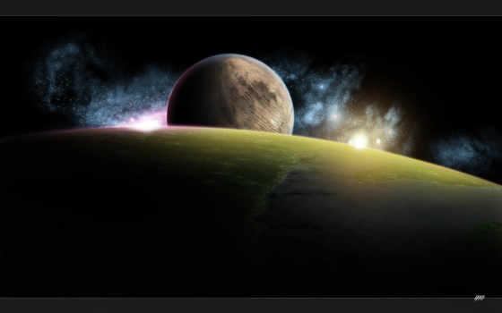 planet, космос, звезды,