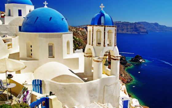 azul, desktop, grecia, free,