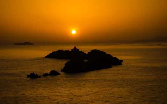 ,скалы,море, закат,