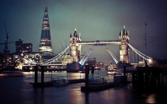 мост, башня, ночь
