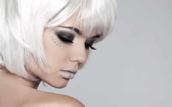волосы, девушка, portrait, красоты, женщина, белые, красавица, fashion, короткие,