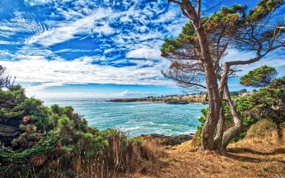 природа, california, usa, побережье, сша, небо,