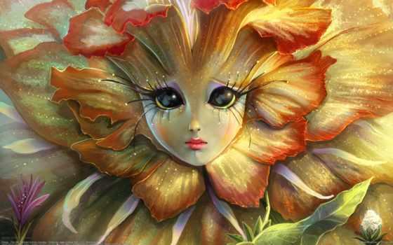 cvety, рисунки, fantasy, фантастические, цветов, фантастика, девушка, графика, яndex, цветы, компьютерная,