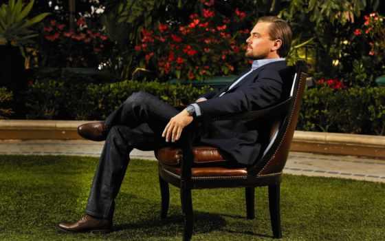 леонардо, dee, каприо, дикаприо, актер, сидит, tatyana, garden, кресле, леонардо,