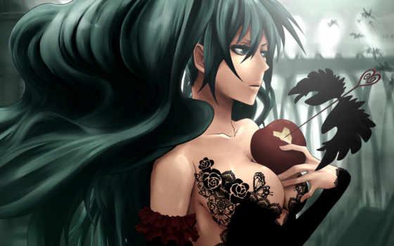 аниме, девушка, волосы