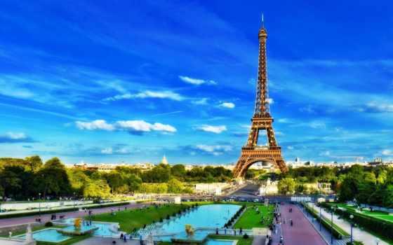 башня, эйфелева, париж