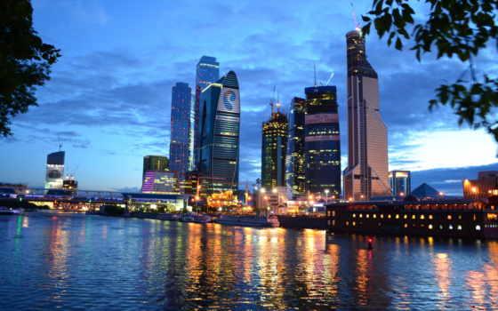 москва, город, ночью, business, ммдц,