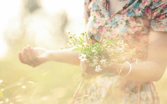 девушка, cvety, держит, руках, цветов, букет, summer, сайте, нашем, windows, фотографий,
